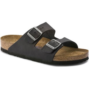 Birkenstock Arizona Soft Footbed Oiled Leather Ladies Sandals - Black