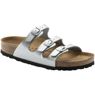 Birkenstock Florida Birko Flor Graceful Ladies Sandals - Graceful Silver