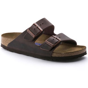 Birkenstock Arizona Soft Footbed Oiled Leather Ladies Sandals - Habana