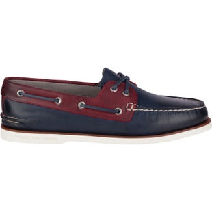 Sperry Gold Cup AO 2 Eye Roustabout Slip On Shoes - Navy Red