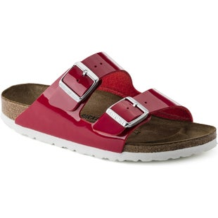 Birkenstock Arizona Birko Flor Patent Ladies Sandals - Patent Tango Red
