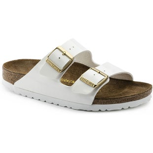 Birkenstock Arizona Birko Flor Patent Ladies Sandals - Patent White