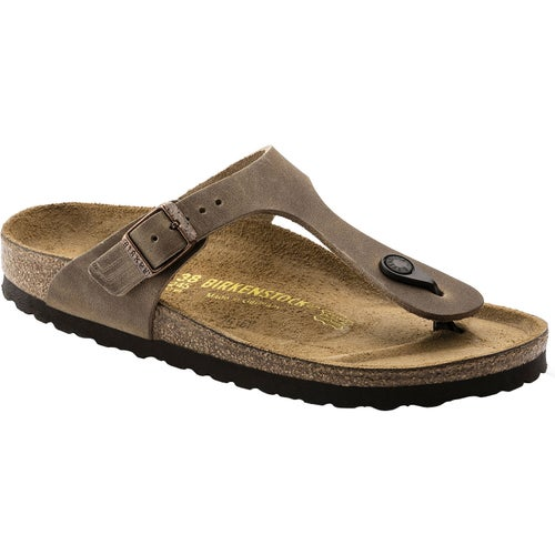 Birkenstock Gizeh Oiled Leather Sandals - Tabacco Brown