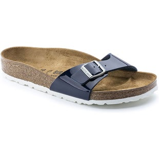 Birkenstock Madrid Birko Flor Patent Ladies Sandals - Patent Dress Blue