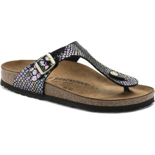 Birkenstock Gizeh Birko Flor Shiny Snake Ladies Sandals - Shiny Snake Black Multi