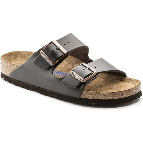 Birkenstock Arizona Smooth Leather Soft Footbed Sandals - Brown
