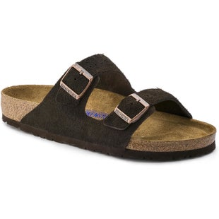 Birkenstock Arizona Soft Footbed Suede Leather Ladies Sandals - Mocca