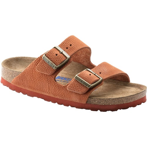 Birkenstock Arizona Nubuck Soft Footbed Sandals - Steer Curry