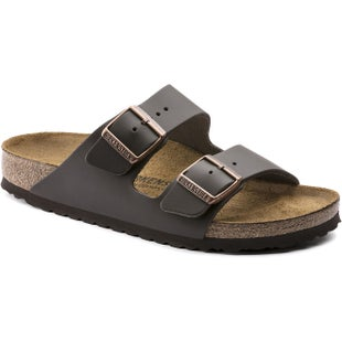 Birkenstock Arizona Nubuck Smooth Leather Ladies Sandals - Dark Brown