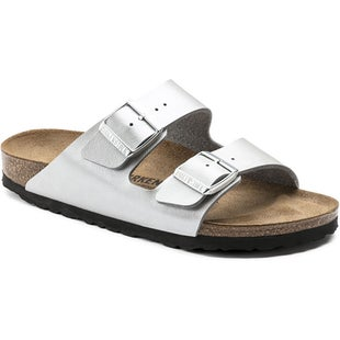 Birkenstock Arizona Birko Flor Graceful Ladies Sandals - Graceful Silver