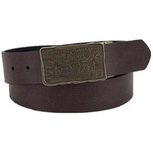 Levis Rio De La PLata Leather Belt - Dark Brown