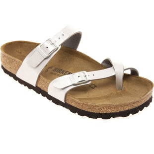 Birkenstock Mayari Birko Flor Graceful Ladies Sandals - Graceful Silver