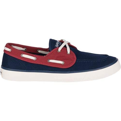 Sperry Captains 2 Eye Slip On Shoes - Navy Red