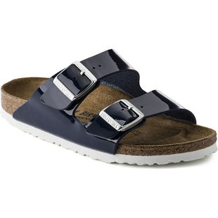 Birkenstock Arizona Birko Flor Patent Ladies Sandals - Patent Dress Blue