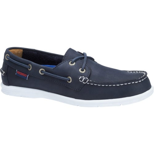 Sebago Litesides 2 Eye Ladies Slip On Shoes - Navy Leather