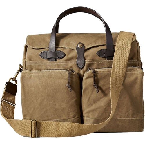 Filson 24-Hour Tin Briefcase Bag - Dark Tan