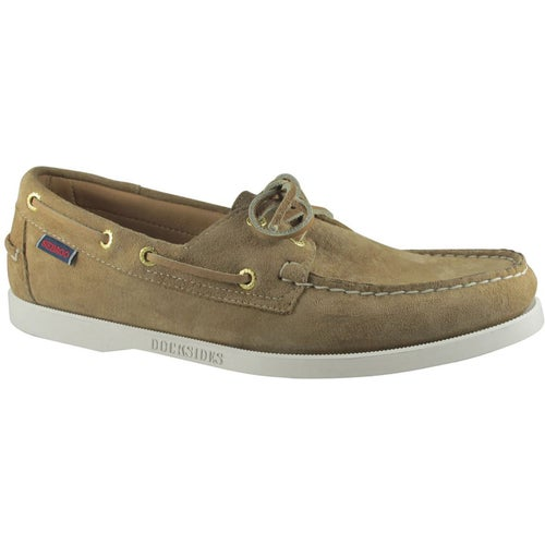 Sebago Dockside Portland Slip On Shoes - Beige Camel Suede