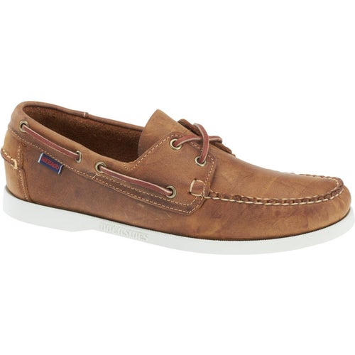 Sebago Dockside Portland Slip On Shoes - Brown Cognac Leather
