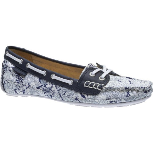 Sebago Bala Liberty Ladies Slip On Shoes - Fairyland Navy Print