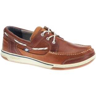 Sebago Triton Three Eye Slip On Shoes - Brown Cognac