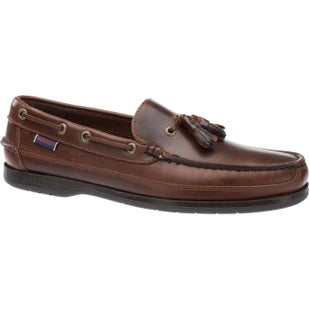 Sebago Ketch Slip On Shoes - Total Brown Oily Waxed Leather