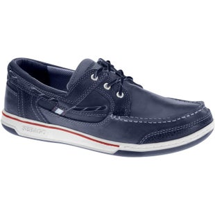 Sebago Triton Three Eye Slip On Shoes - Blue Navy