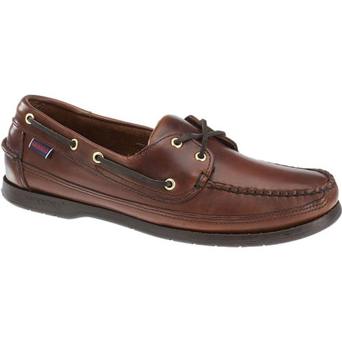 Sebago Schooner Slip On Shoes - Total Brown Waxed Leather