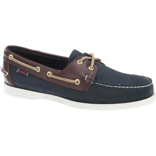 Sebago Spinnaker Slip On Shoes - Blue Navy Dark Brown