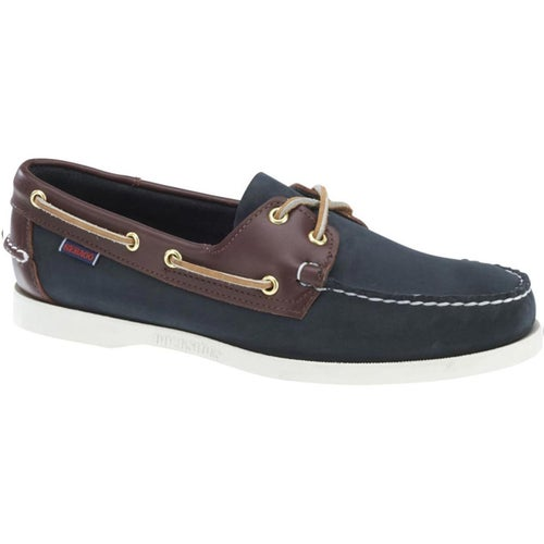 Sebago Spinnaker Shoes - Blue Navy Dark Brown
