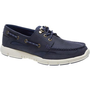Sebago Clovehitch Lite Slip On Shoes - Blue Navy Waxed Leather