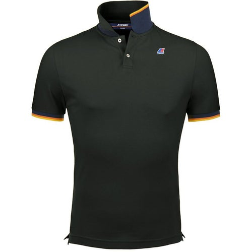 K-Way Vincent Contrast Polo Shirt - Black
