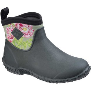 Muck Boots Muckster II RHS Prints Ladies Wellies - Green Rosa