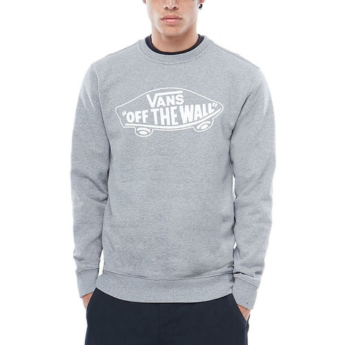 Vans Off The Wall Crew Sweater - Cement Heather White Outline