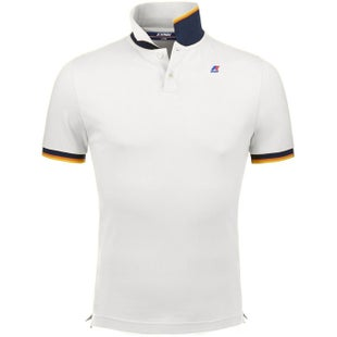 K-Way Vincent Contrast Polo Polo Shirt - White