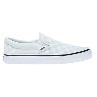Vans Authentic Classic Slip On Shoes - Checkerboard Blue Flower True White