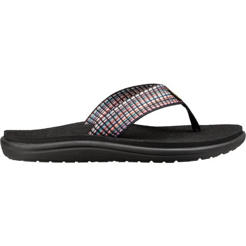 Teva Voya Flip Ladies Sandals - Bar Street Multi Black