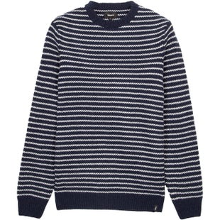 Finisterre Hawkins Crew Knits - Navy