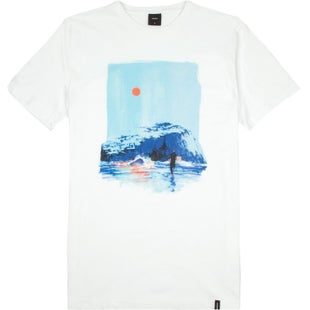Finisterre Aspinall Bass Rock T Shirt - White
