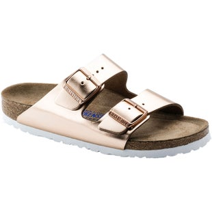 Birkenstock Arizona Soft Footbed NL Narrow Ladies Sandals - Metallic Copper