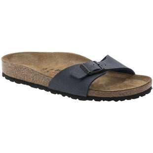 Birkenstock Madrid Birko Flor Nubuck Ladies Sandals - Navy
