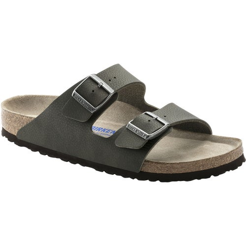 Birkenstock Arizona Birko Flor Soft Footbed Sandals - Desert Soil Green