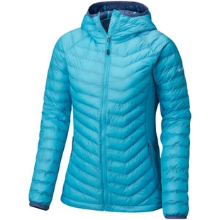 Columbia Powder Lite Light Hooded Ladies Jacket - Atoll Bluebell