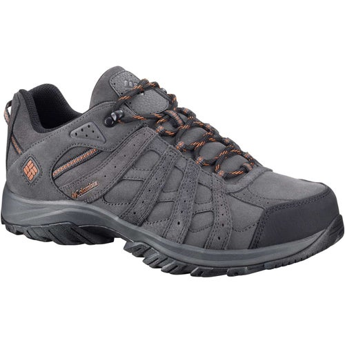 Columbia Redmond XT Leather OmniTech Hiking Shoes - Dark Grey Bright Copper