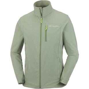 Columbia Heather Canyon Hoodless Softshell Jacket - Mossstone Heather Fission