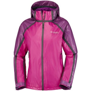 Columbia Outdry Ex Gold Tech Shell Ladies Jacket - Groovy Pink Intense Violet