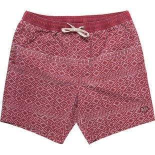 Deus Ex Machina Sandbar Eastern Maze Shorts - Red Dahlia