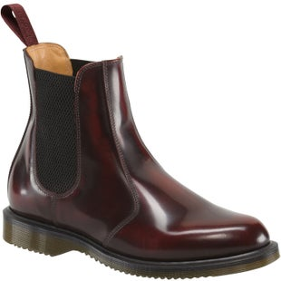 Dr Martens Flora Chelsea Ladies Boots - Cherry Red