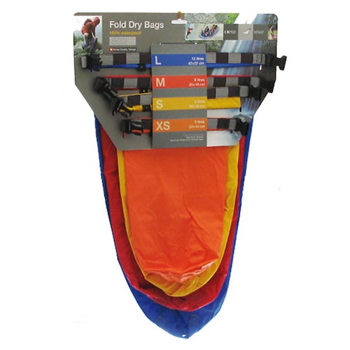 Exped Fold Dry 4 Pack Bright Drybag - Assorted