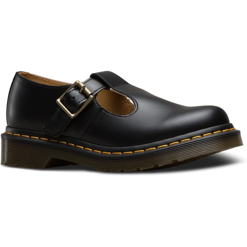 Dr Martens Polley Smooth Ladies Shoes - Black