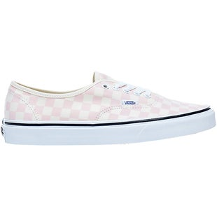 Vans Authentic Shoes - Checkerboard Chalk Pink Classic White